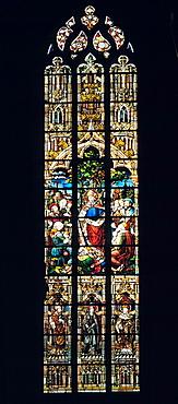 D-Nottuln, Baumberge, Muensterland, Westfalen, Nordrhein-WestfalenW, Pfarrkirche Sankt Martinus, katholische Kirche, Kirchenfenster, D-Nottuln, Baumberge, Muensterland, Westphalia, North Rhine-WestphaliaW, parish church Saint Martinus, catholic ch
