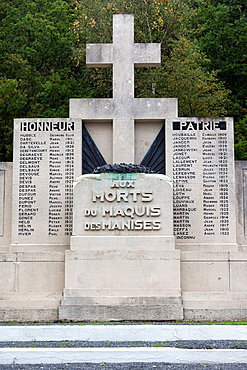 France, Ardennes, Meuse River Valley, Revin, Monument to the Maquis, resistance fighters to the Nazi occupation of France 1940-1945