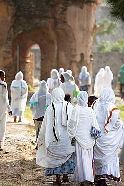 Africa Ethiopia Gonder Timkat festival.