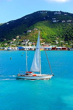 Boats in Harbor Roadtown Tortola BVI Caribbean Cruise