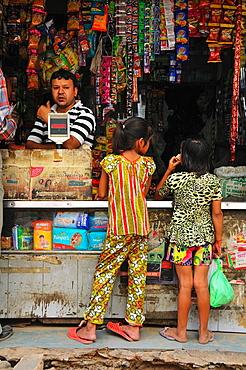 Two girls shopping, Delhi India