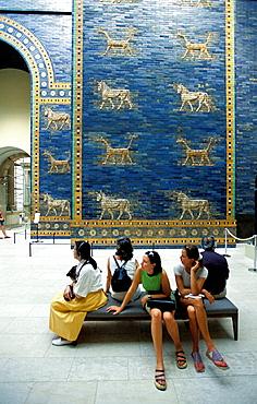 Assyrian ceramic frieze, Pergamon Museum, Berlin, Germany