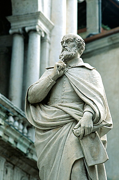 Statue of Andrea Palladio in Vicenza, Italy