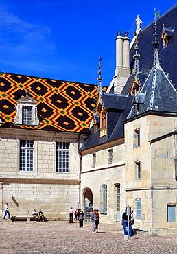 Hospices de Beaune Hôtel-Dieu de Beaune, Beaune, Cote dOr department, Burgundy, France