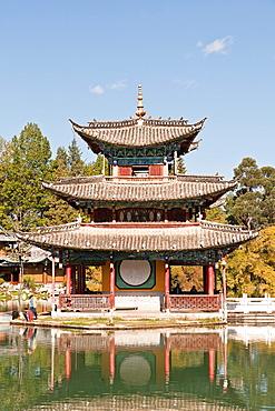 Deyue pavilion, Black Dragon Pool, Lijiang, Yunnan Province, China