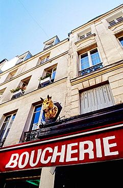 One of the last horse meat butcher's shop, Paris, France