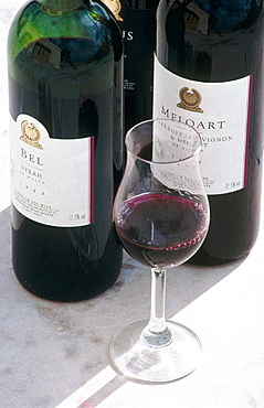 Excellent red wines, Meridiana winery cellars, Republic of Malta.