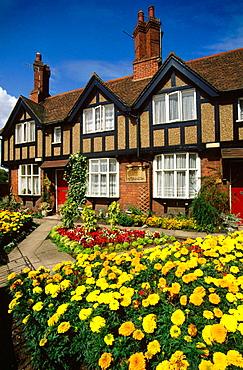 Cottages on Castle Street, Warwick, England