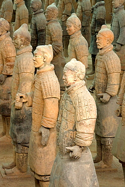 Excavated Terracotta warriors in Xian, China