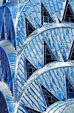 USA, NYC, Manhattan, Chrysler Building, detail of steel roof