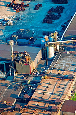 Aerial image of closed foundry in Rothbury, Michigan The plant was placed on indefinite shutdown in 2009 The company received state and local tax breaks for purchasing equipment to manufacture high quality castings for the wind turbine industry, has shu