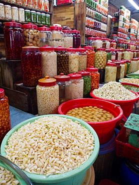 Food market in Ho Chi Minh City, Vietnam