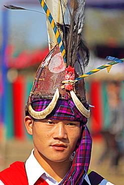 Tangsa Man, Lungchang Tribe at Namdapha Eco Cultural Festival, Miao, Arunachal Pradesh, India