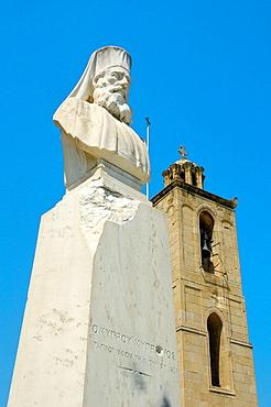 Bust of Makarios III, archbishop and primate of the Orthodox Church of Cyprus, Nicosia, Cyprus