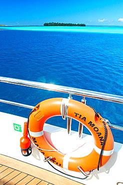 "Cruise on the luxury 30 cabins yacht ""Tia Moana"", Leeward islands, French Polynesia, South Pacific."