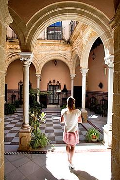 Inside the Permatin Palace Jerez de la Frontera, Cadiz, Andalusia, Spain