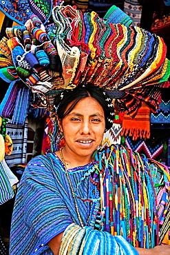 Woman portrait Panajachel Atitlan Lake Solola Department Guatemala