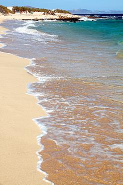 Corralejo beach nature reserve in Formentera Canary islands Spain