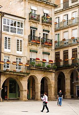Main Square, Ourense, Galicia, Spain