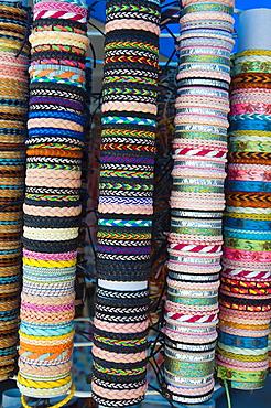 Bracelets central Market in Rovinj the Istrian peninsula Croatia Europe