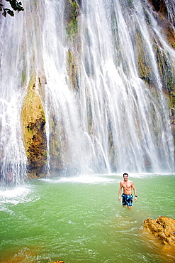 El Limon waterfall, Samana Peninsula, Dominican Republic, West Indies, Caribbean