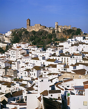 Andalusia, Casares, city, fortress, hill, white, Spain, Europe, town, village. Andalusia, Casares, city, fortress, hill, white, Spain, Europe, town, village