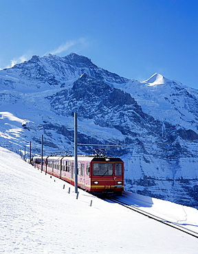 Switzerland, Europe, Bernese Oberland, Jungfrau railroad, Kleine Scheidegg, Canton Bern, Jungfrau, Rack railway, Touri. Switzerland, Europe, Bernese Oberland, Jungfrau railroad, Kleine Scheidegg, Canton Bern, Jungfrau, Rack railway, Touri