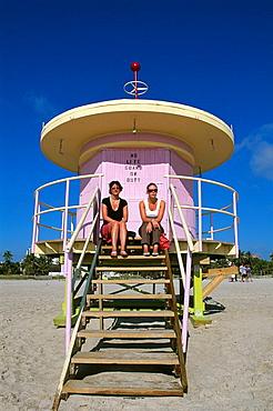 Life Guard, lifeguard, South Beach, Miami Beach, Miami, Florida, USA, America, United States, North America, America, . Life Guard, lifeguard, South Beach, Miami Beach, Miami, Florida, USA, America, United States, North America, America,