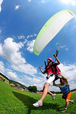 Switzerland, Europe, Paraglider, Outdoor, Outdoors, Outside, landscape, mountain, mountains, Canton Jura, Paragliding, . Switzerland, Europe, Paraglider, Outdoor, Outdoors, Outside, landscape, mountain, mountains, Canton Jura, Paragliding,