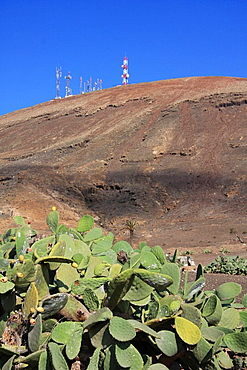 Lanzarote island, Spain, Europe, Canary islands, Femes, travel, volcanism, volcanic Landscape, scenery, antennas, cact. Lanzarote island, Spain, Europe, Canary islands, Femes, travel, volcanism, volcanic Landscape, scenery, antennas, cact