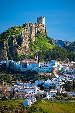 Andalusia, Spain, Sierra de Grazalema, Zahara de la Sierra, village, traveling, tourism, vacation, holidays. Andalusia, Spain, Sierra de Grazalema, Zahara de la Sierra, village, traveling, tourism, vacation, holidays