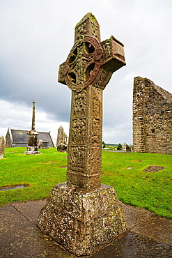 Cross of the Scriptures, Clonmacnoise, County Offaly, Ireland, Europe