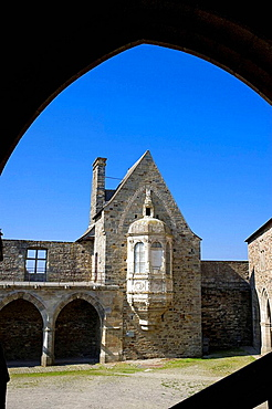 Oratory tower in medieval castle, Vitre, Ille-et-Vilaine, Bretagne, France