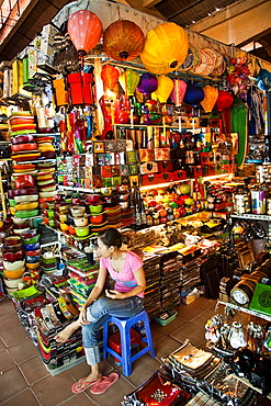Ben Thanh Market. Ho Chi Minh City (formerly Saigon). South Vietnam.