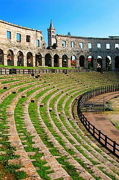 Arena Roman amphitheater, Pula, Istrian peninsula, Croatia