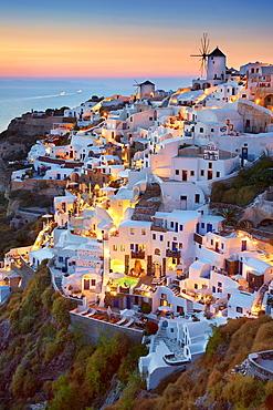 Oia village, Santorini Island, Cyclades, Greece