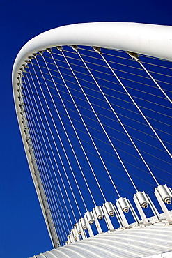 Atrchitectural detail of the Olympic Velodrome by Calatrava, Athens, Greece