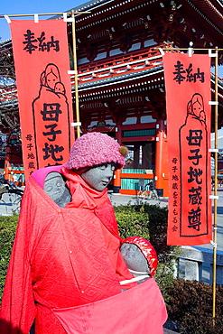 Senso-ji Temple Jinzo, Statue that protects the children, travelers and pregnant women, Asakusa district, Tokyo, Japan, Asia