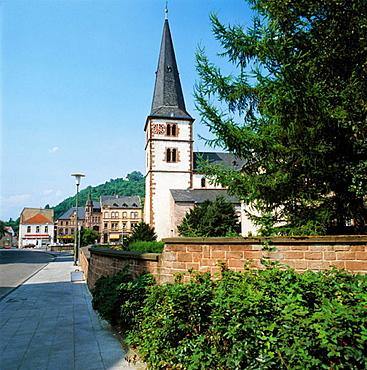 Germany, Saarland, Merzig, collegiate church Saint Peter, late romanesque style