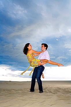 Loving couple at beach