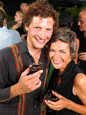Couple at a cocktail party