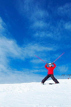 Girl skiing, Girl skiing