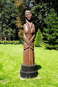 Sculptures presenting protagonists from novels by Henryk Sienkiewicz in Wola Okrzejska Lukow County, Poland Sienkiewicz was Polish journalist and Nobel Prize-winning novelist born in Wola Okrzejska village