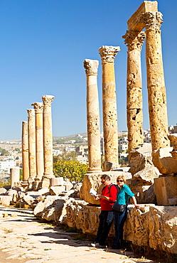 Greco-Roman city of Jerash, Jordan, Middle East