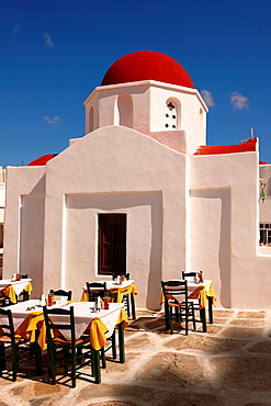 Greek Orthodox church of Agia Moni Mykanos Chora, Cyclades Islands, Greece