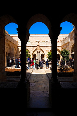 Israel, West Bank, Bethlehem, Chruch of the Nativity, courtyard
