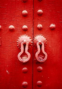 House (Riad) door in the medina, Marrakech, Morocco