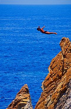Cliff Diver of Acapulco, Mexico
