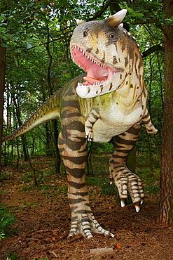 Dinosaur in Leba Park dinosaur theme park, Poland