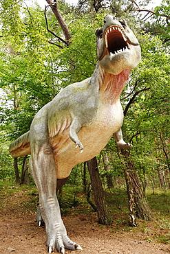 Tyrannosaurus Rex tyrant lizard in Leba Park dinosaur theme park, Poland